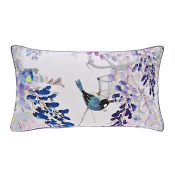 Wisteria Falls Cushion, L50 x W30 X H10, lilac