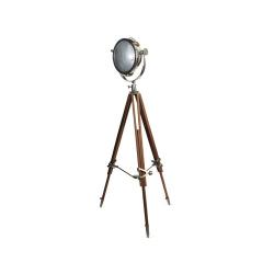 Rolls Headlamp Spotlight with tripod, H157 x W90cm, Natural Wood Tripod