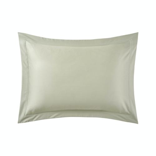 Triomphe - 300 Thread Count Cotton Sateen Standard Pillowcase, 50 x 75cm, Sauge