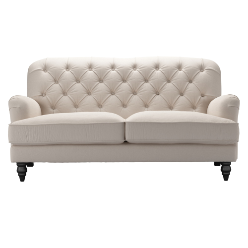 Snowdrop Button 2 and half seater sofa, H88 x W192 x D96cm, Oat