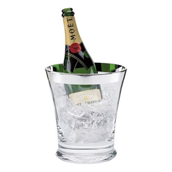 Champagne Champagne cooler, H22 x W20cm, crystal and sterling silver