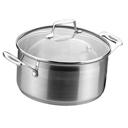 Impact Dutch oven with lid, 4.8 litre - D24cm, stainless steel and glass