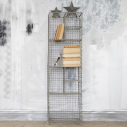 Locker Room Standing shelf - large, H125.5 x L37.5 x W23cm, Distressed Grey