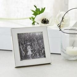 "Resin Photograph frame, 3 x 3"", white/silver"