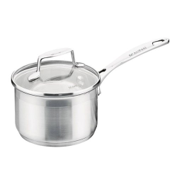 Impact Saucepan with glass lid, 14cm, Stainless Steel