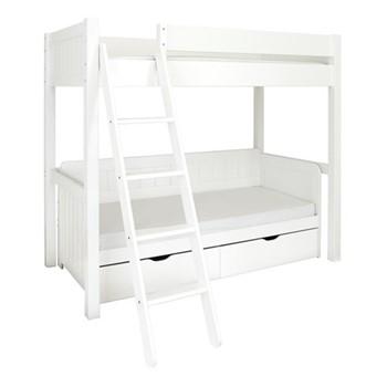 Warwick High-sleeper with daybed, L202 x W102 x H177cm, silk white