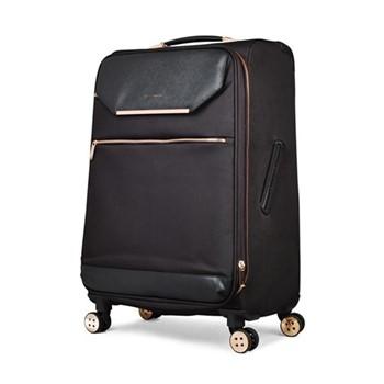 Albany Medium 4 wheel trolley suitcase, L68 x W44 x D31cm, black