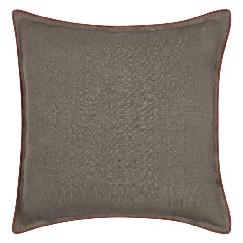 Brero Lino Cushion, H45 x W45cm, Walnut