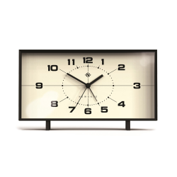 The Wideboy Alarm clock, H12 x W20.5 x D6cm, Black