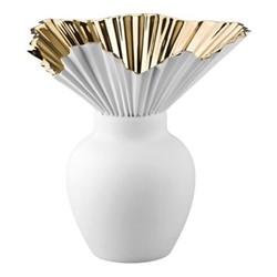 Falda Vase, 27cm, gold titanium