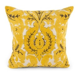 Nectar Square pillow, L45.72 x H45.72cm, yellow&white