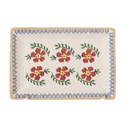 Old Rose Small rectangular serving dish, L17 x W11.7 x H2.8cm
