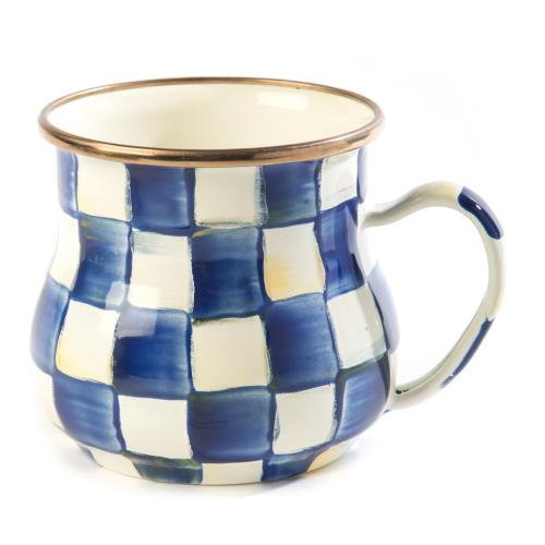 Royal Check Mug, 450ml, Blue & White