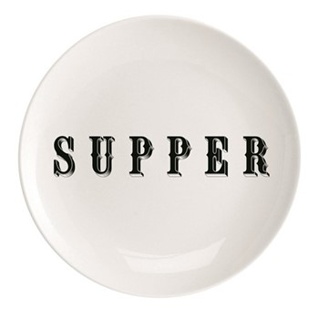 Supper Plate, Dia25.5cm, black/white