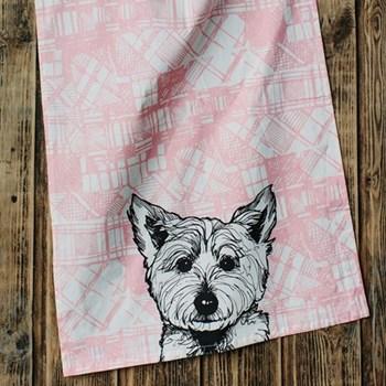 Westie Tea Towel, 48 x 76cm