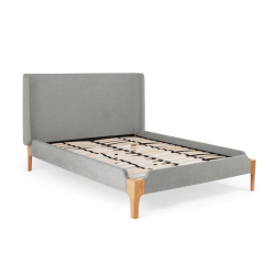 Roscoe Super king size bed, H114 x W202 x D215cm, Grey