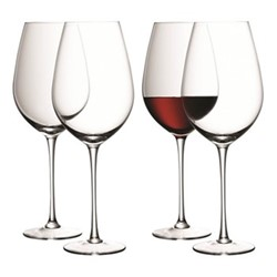 Wine Set of 4 red wine goblets, 0.85 litre, clear