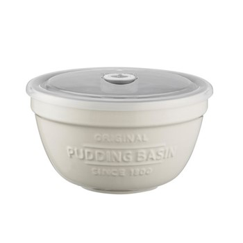 Innovative Kitchen Pudding basin with lid, H9 x W16 x L16cm, cream