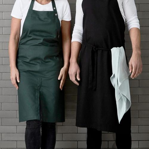 Twill Long apron, 105 x 110cm, Black
