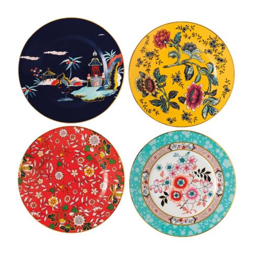 Wonderlust Set of 4 plates, 20cm