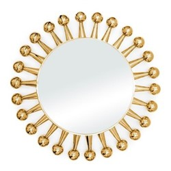 Jack mirror, Dia61 x D5cm, brass & nickel