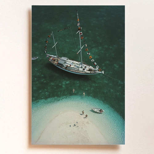 Slim Aarons - Exuma Holiday Mounted print, H76 x W50cm, Perspex