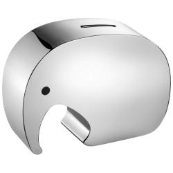 Elephant Moneybox, stainless steel