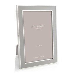 """Enamel Range Photograph frame, 4 x 6"""" with 15mm border, chiffon with silver plate"""