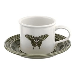 Botanic Garden Harmony Breakfast cup and saucer, forest green