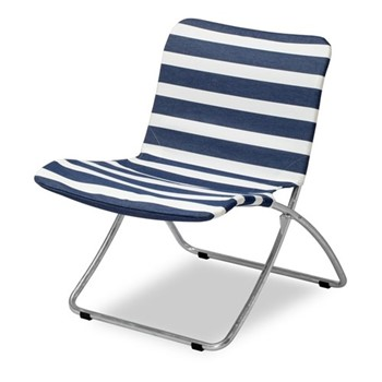Lise Sunchair, W69.5 x D55 x H69cm, dark blue stripes