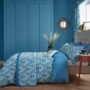 Alyssum Double duvet cover, L200 x W200cm, blue