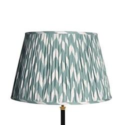 Ikat printed lampshade H30.5 x D45cm