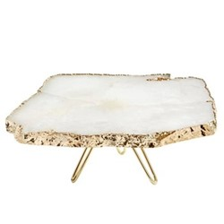 Torta Cake stand, 30 x 12cm, crystal gold