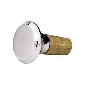 Plain Bottle stopper, 4cm, sterling silver