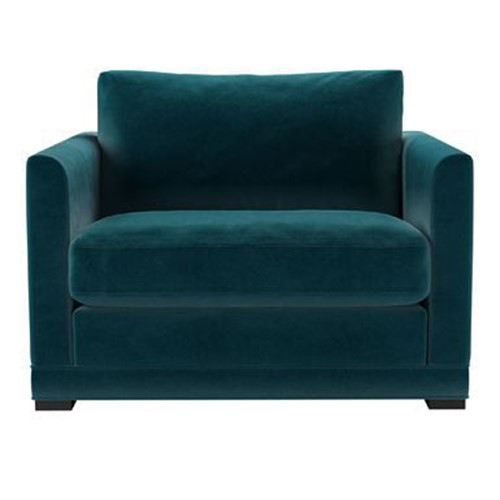 Aissa Loveseat, H91 x W108 x D97cm, Deep Turquoise