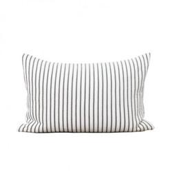 Hikari Cushion, 40 x 60cm, grey/white stripe