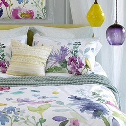 Tetbury Meadow King size duvet cover set, L220 x W230cm