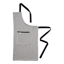 Harbour Stripe Apron, 80 x 82cm, black