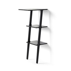 Libri Standing table, W38 x D50 x H114cm, black ash