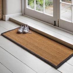 Double doormat with charcoal border, Coir
