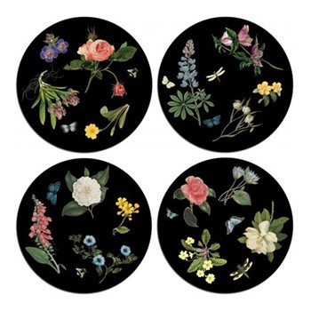 Botanical Set of 4 circular table mats, D25.5cm