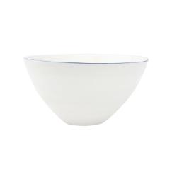 Abbesses Pair of large bowls, 24 x 11.4cm, Blue Rim