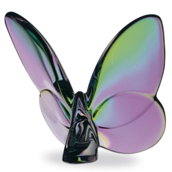 Lucky Butterfly Ornament, clear iridescent