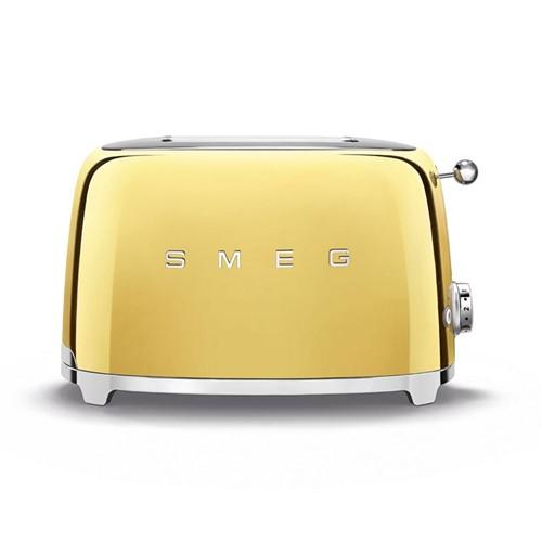 50's Retro 2 slice toaster, gold