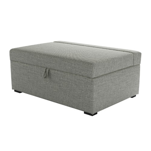 Henry Single bed in a box, H42 x W107 x D74cm, Grey Marl