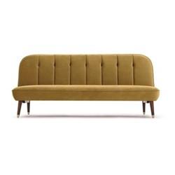 Margot Click Clack Sofa bed, H80 x W191 x D85cm, vintage gold velvet