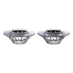 Lismore Classic Pair of votives, H3.81 x W9.9 x D3.81cm, clear