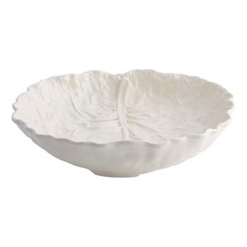 Cabbage Salad bowl, 40 x 38 x 10cm, beige