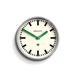 The Luggage Wall clock, D30cm, Galvanised With Green Hands