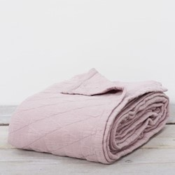 Stockholm Bedspread throw, W220 x L230cm, blush